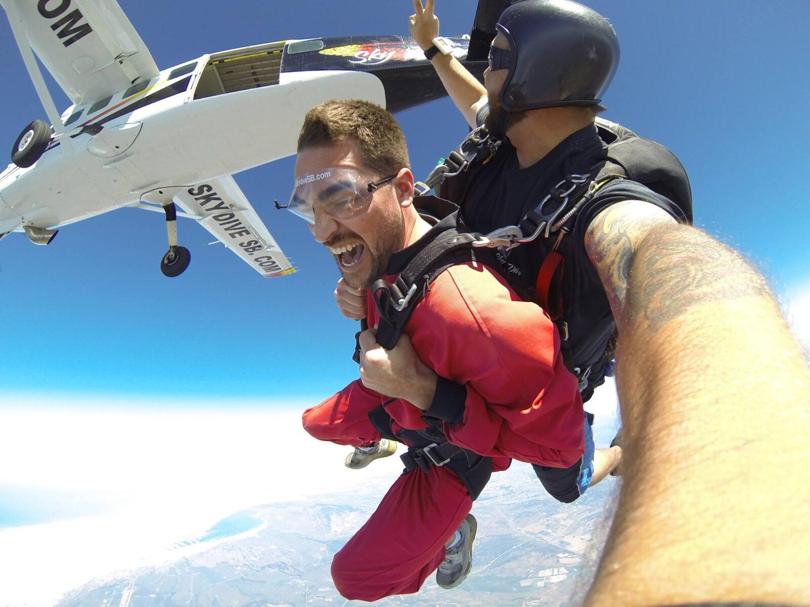 A holiday tandem skydive at Skydive Santa Barbara