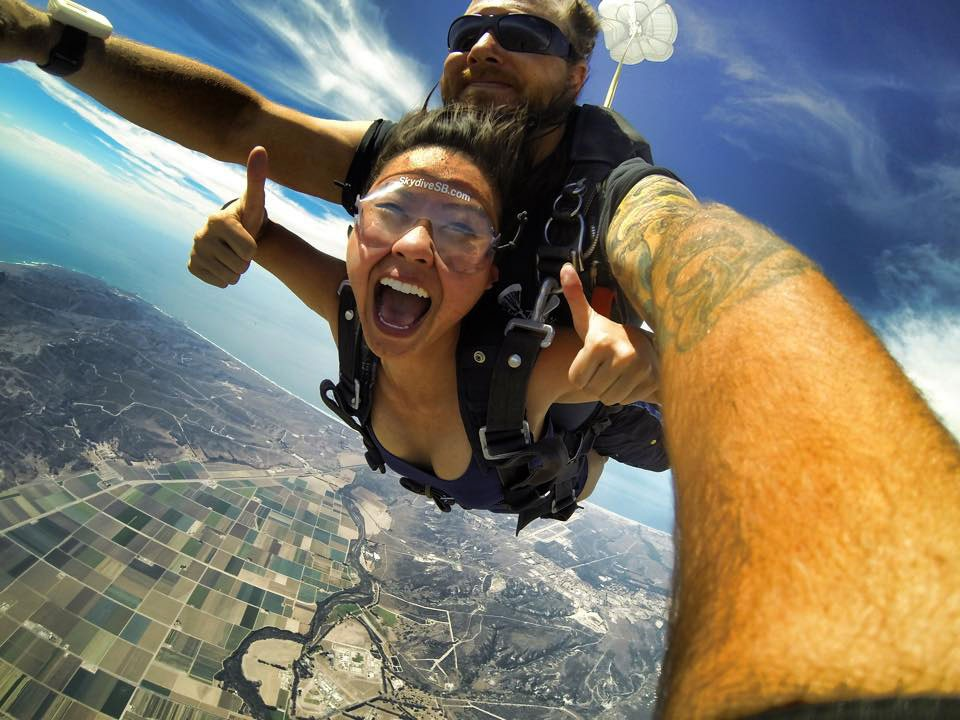 tandem skydiving with an ocean view at Skydive Santa Barbara